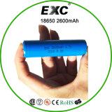 18650 mAh van de batterij 3.7V 2600 met de Navulbare Batterij van het Lithium