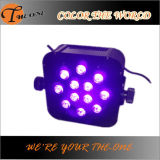 무선 12X17W RGBWA+UV 6in1 LED Flat PAR Can