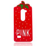 Caja linda del teléfono celular del silicón de la fresa para SE LG G4/H815 (XSP-002) de Samsung S6edge S6 S7edge S5