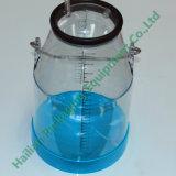 Plastic trasparente Milk Bucket con Scale 25L per Milking Machine