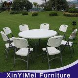 Mesa y sillas plegables plásticas del banquete, tabla redonda 6FT, tabla del abastecimiento
