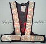 Nieuwe LEIDENE van het Ontwerp Lichte Veiligheid die Weerspiegelend Vest in werking stelt