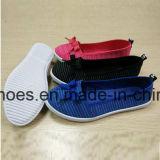 Zapato plano de la lona de la inyección de las mujeres con buen precio