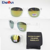 Óculos de sol de dobramento do acetato com caso (KS1159)