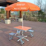 Новый портативный алюминиевый складной столик пикника с зонтиком