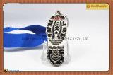Медальон формы проступи золота серебряный медный резвится медаль (JINJU16-088)