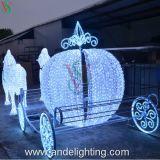 Pferden-Wagen-Weihnachtsmann-Weihnachtslandschaftsdekoration-Motiv-Leuchte
