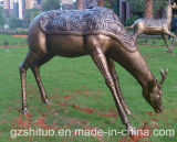 Polyresin Deer Statue2, Outdoor Garden Polyresin Sculpture Décoration de peinture