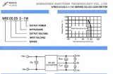 1W poder superior Density, Regulated Dual Output DC/DC Converter Wre0524s-1W