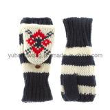 Связанные акриловые теплые перчатки/Mittens жаккарда с карманн