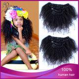 De Krullende Klem van Afro van het Menselijke Haar van 100% in Haar