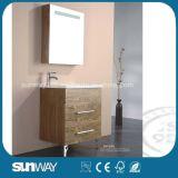 Fußboden-stehende Farbanstrich MDF-Badezimmer-Möbel mit Spiegel-Schrank