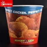 習慣はペーパーによって揚げられている鶏ボックスを印刷した