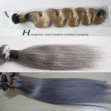 """18 """" cabelo não processado da manufatura do Bw da extensão #1b/#613 do cabelo humano do Virgin"""