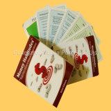 Китай подгонял карточки карточек PVC детей воспитательные играя