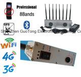 Сжимать блокаторов сигнала Jammer 8 мобильного телефона блокатора сигнала Jammer сигнала Jammer WiFi/2g/3G/4G/2.4G/GPS сигнала передвижной