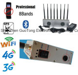 Bloqueio móvel dos construtores do sinal do jammer oito do telemóvel do construtor do sinal do jammer do sinal do jammer WiFi/2g/3G/4G/2.4G/GPS do sinal