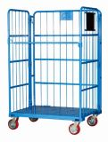 Entreposage Wire Mesh Rolling Metal Storage Caisse à rouleaux Trolley Cart with Doors