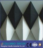 Panneau de mur intérieur ignifuge de l'animal familier 3D de mur de protection de bruit de cinéma