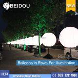 Воздушные шары PVC фабрики оптовые освещая рекламирующ раздувной воздушный шар стойки треноги