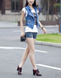 Estate Slim Short Denim Vest Made con Nail