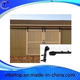 Ferragem deslizante residencial de aço preta da porta de celeiro