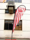bandiera di volo di stampa di mostra di 2.8m singole/bandierina laterali di alluminio del Teardrop