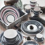 Goedkope Plaat van het Steengoed van Handpainting de Ceramische