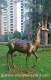 Cerfs communs Statue2, décoration extérieure de Polyresin de peinture de sculpture en Polyresin de jardin