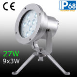 Indicatore luminoso subacqueo del punto di IP68 27W LED, indicatore luminoso subacqueo della fontana del LED