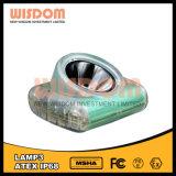 Lâmpada de mineração brilhante elevada da cabeça do diodo emissor de luz, luz principal do diodo emissor de luz, lâmpada principal recarregável do diodo emissor de luz