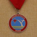 Die-Cast таможней медали карате бронзы серебра золота металла