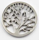 Neue Entwurfs-Seitegeöffneter Locket mit Baum der Leben-Münze für Halsketten-Anhänger