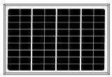 mono modulo solare di 18V 5W per 12V il piccolo sistema (2017)