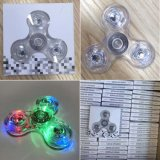 Transparente LED Light Hand Spinner Fidget Crystal Plastic
