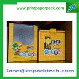 Rectángulo de empaquetado de papel de la cartulina del embalaje del PVC de la joyería del juguete del chocolate del caramelo de la galleta