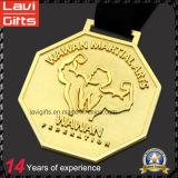 ラグビーのための亜鉛合金の鋳造3D賞のスポーツメダル