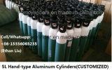 cilindro de gás 5L de alumínio com punhos carreg