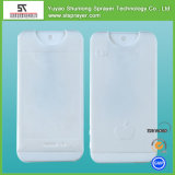 Frasco do pulverizador da forma do cartão da amostra livre 20ml, perfume do pulverizador do corpo, frasco Pocket plástico do pulverizador de perfume do tamanho