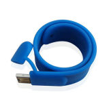 주문 로고 방수 USB 팔찌, 실리콘 USB 부속품