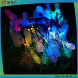 LED Solar Garden String Lights Outdoor Fairy Multi-Color Crystal Waterdrops Patio Lights for Party