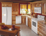 Module de cuisine personnalisé en bois solide de meubles de maison de couleur