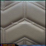 Sponge Stiched Microfiber PU Leather para estocadores de carro Hx-W1704