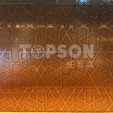 201 laiton d'antiquité de feuille d'acier inoxydable de porte de 304 ascenseurs pour des accessoires de meubles
