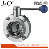 Hot Sale Sanitary Clamp Ss Pull Hand Butterfly Valve