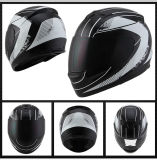 Capacetes de ruído elétrico brancos da equitação da segurança da motocicleta