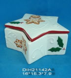 Biscotto della stella/contenitore di ceramica dipinti a mano di caramella