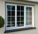 창유리 단 하나 두 배 강화 유리 Windows, 싼 가격 PVC Windows를 미끄러지는 PVC