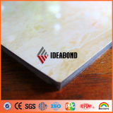 O painel composto de alumínio do revestimento bonito da pedra decorativa vem de Ideabond (AE-506)