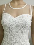 Заплатки сетки шнурка 2017 женщин платья оптовой продажи конструкция шикарного платья самой последней вскользь белой безрукавный